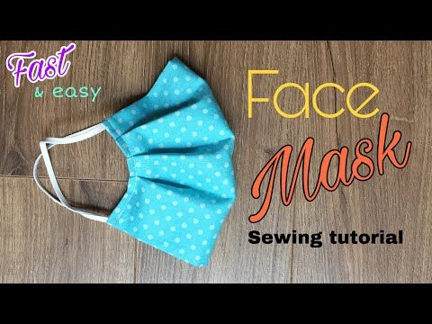 Face Mask Sewing Tutorial How To Make A Face Mask With Filter Pocket Diy Cloth Face Mask Youtube Sewing Tutorials Easy Face Mask Diy At Home Face Mask