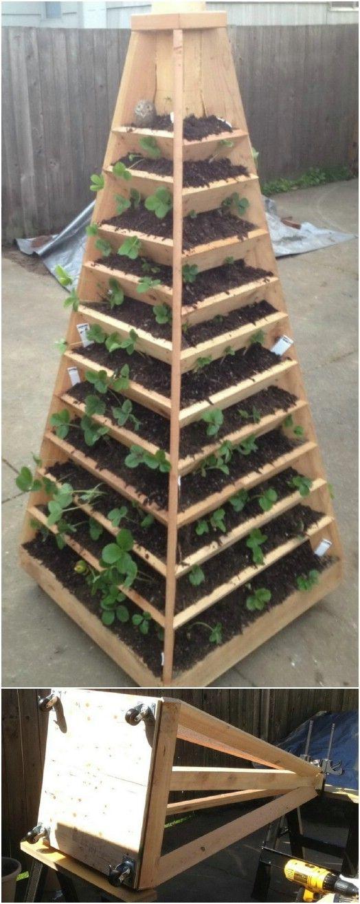 20 Diy Vertical Gardens That Give You Joy In Small Spaces Vertical Garden Diy Tower Garden Diy Diy Raised Garden