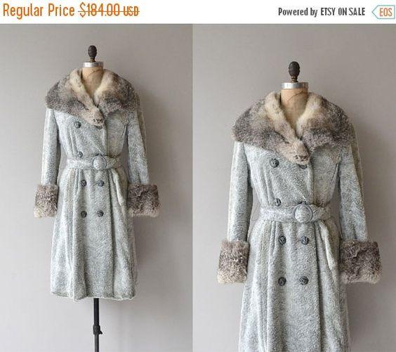 25% OFF.... Britannia coat  vintage 1970s rabbit by DearGolden