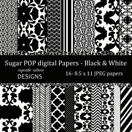 16 Sugar POP Digital Papers. These are beautiful!! Great for invitations, cards, and paper goods. Great scrapbooking papers!