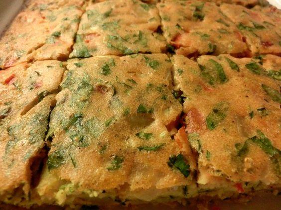 libyan food: Ejja - Libyan Omelet/Frittata - عجة