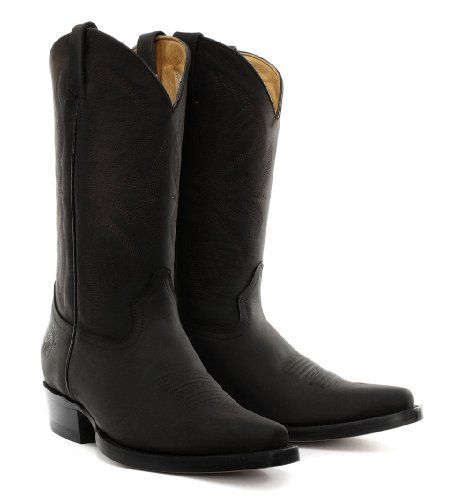 Grinders Louisiana Black Mens Cowboy Boots: Amazon.co.uk: Shoes ...