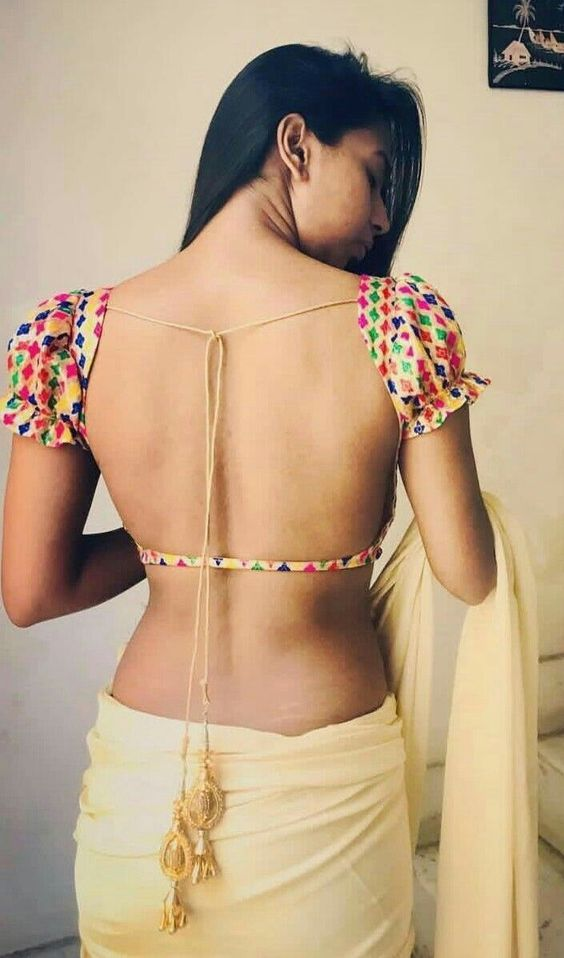 Backless Silk Saree Blouse Designs Back Neck