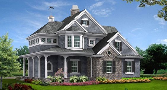 The Astoria Cottage House Plan from The House Designers is a    The Astoria Cottage House Plan from The House Designers is a dainty Sq  Ft  home featuring a window lined stair tower leading to an open floor layout