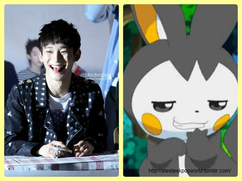 If EXO-M were Pokemon: Chen = Emolga.. When I played I HATED this thing but since Ira Chen I love it