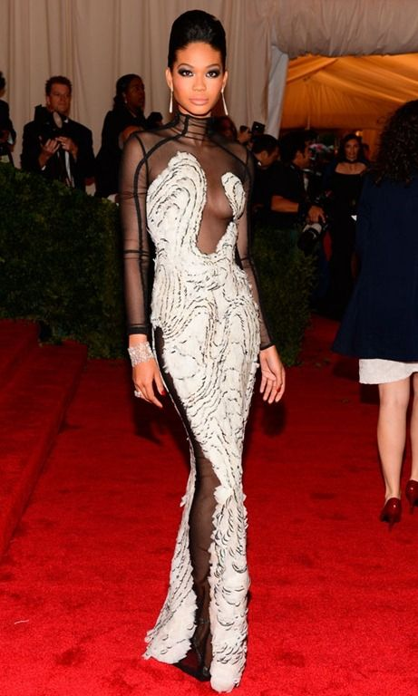 Chanel Iman in Tom Ford