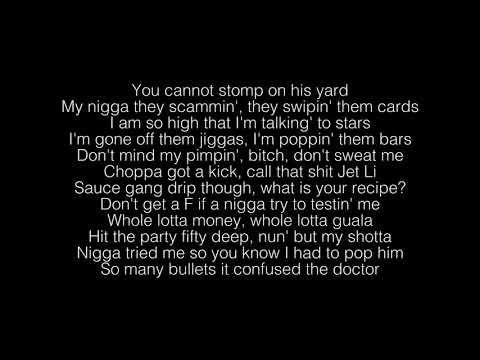 Shotta Flow Nle Choppa Lyrics Youtube Lyrics How To Get Money Run Up On Me