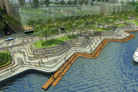 Projects discussions perth waterfront urban renewal for Waterfront landscape design