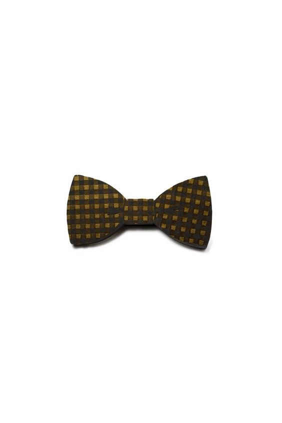 gingham bow tie // good wood