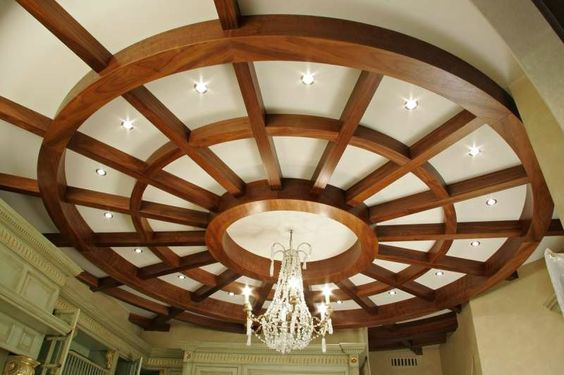 14 Gypsum False Ceiling Design With Wooden Decorations For Living Room 2015 Https