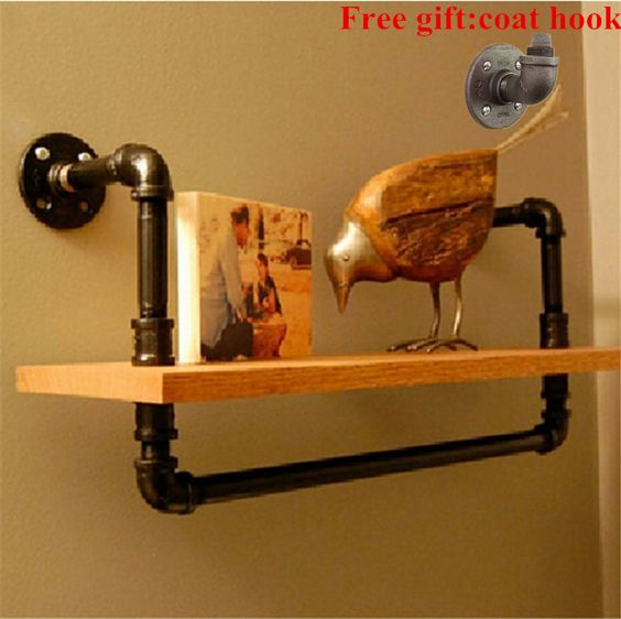 Cheap bar 4x4, Buy Quality bar decor directly from China bar Suppliers:         LOFT Industrial Iron Pipes Bookcase Shelf Wood Wall Storage Holders Flower Clothing Store Cafe Bar Decorative Fr