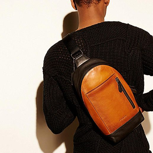 Manhattan Sling Pack in Sport Calf Leather - Alternate View A2