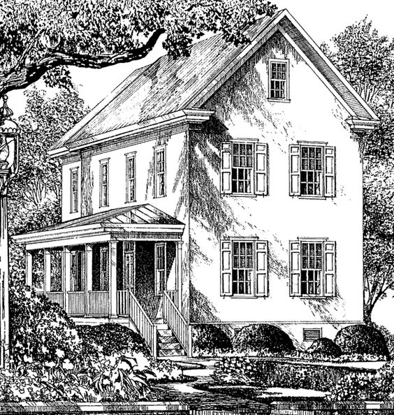 Porch Roof Southern Living House Plans And In Kitchen On