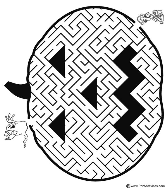 It's just a picture of Crazy Halloween Maze Printable