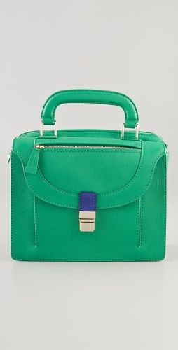 The shape of this Botkier bag may be super serious, but the shade is so much fun.