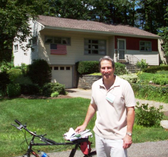 Nine straight hours of campaigning --- a one-day record 246 homes visited. Compact district, trusty bike.