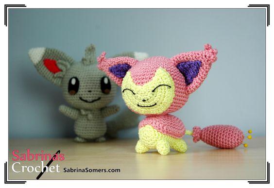 Amigurumi Pokemon Haken : Skitty - Pokemon - Free Crochet Pattern - Amigurumi ...