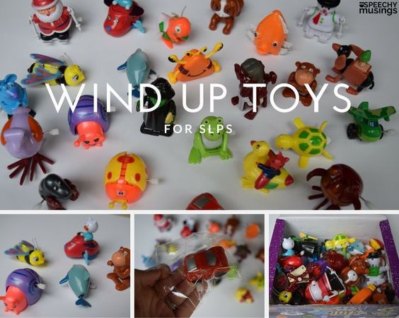 Where I buy wind up toys and how I use them! A great speech and language activity, especially for AAC users and preschool students! From Speechy Musings.