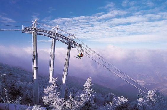 Cảnh quan thơ mộng và hùng vĩ ở khu trượt tuyết Yongpyong Ski Resort