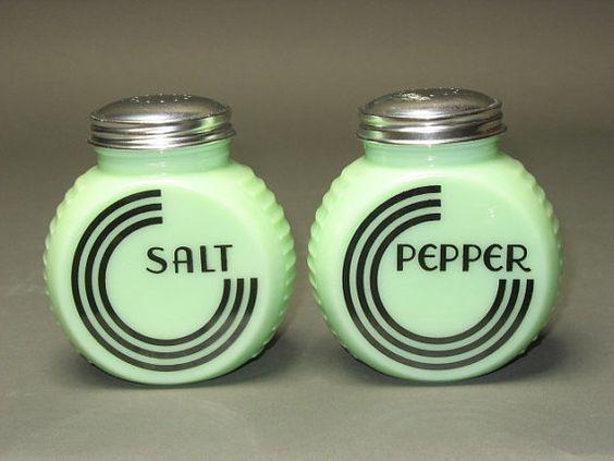 Jadeite Salt & Pepper