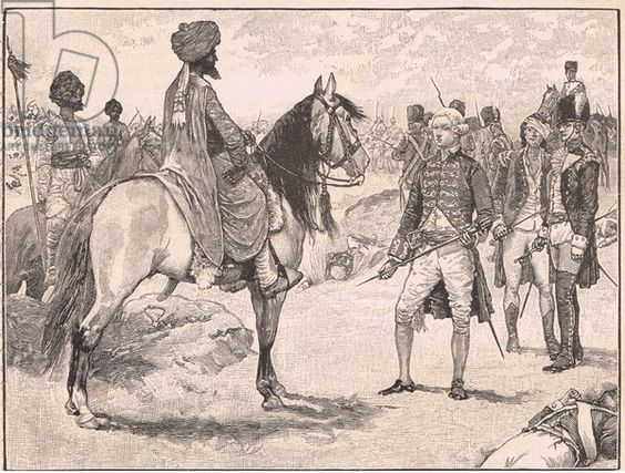 The surrender of Baillie to Hyder Ali AD1780, Creator - Paget, Walter (1863-1935).