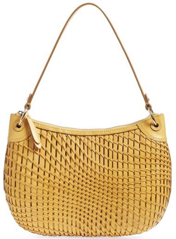Cole Haan Open-Weave Sunshine Yellow Hobo