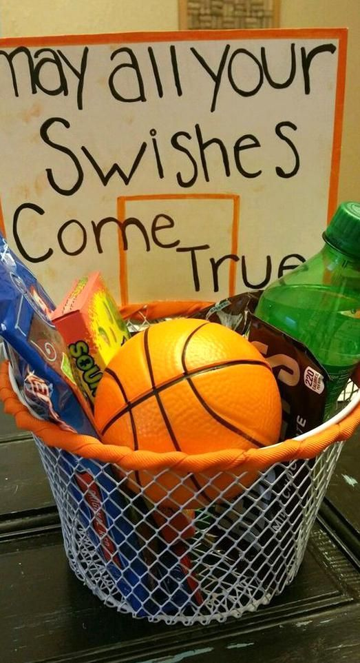 Fun Sports Easter Basket Ideas For Boys And Girls In 2020 Diy Gifts For Boyfriend Basketball Gifts Senior Night Gifts