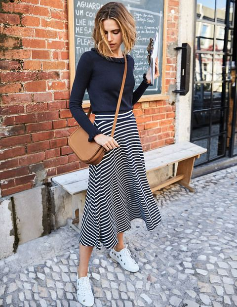 best sneakers new items official site This drapey midi skirt looks smart and elegant, but is just ...