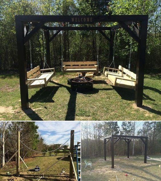 Fire pit swings swing sets and swings on pinterest