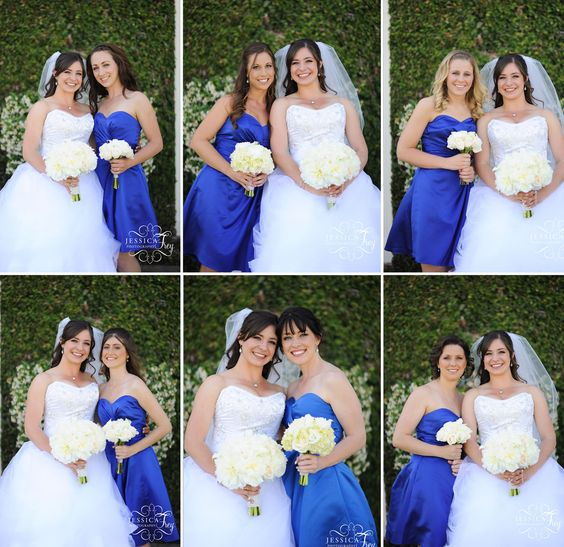 pictures with each bridesmaid