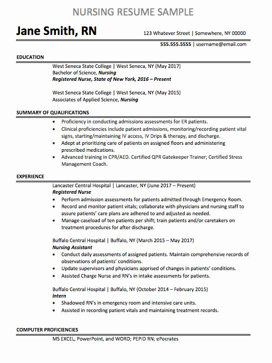 Emergency Room Nurse Resume Awesome Registered Nurse Resume Sample Nursing Resume Examples Registered Nurse Resume Nursing Resume