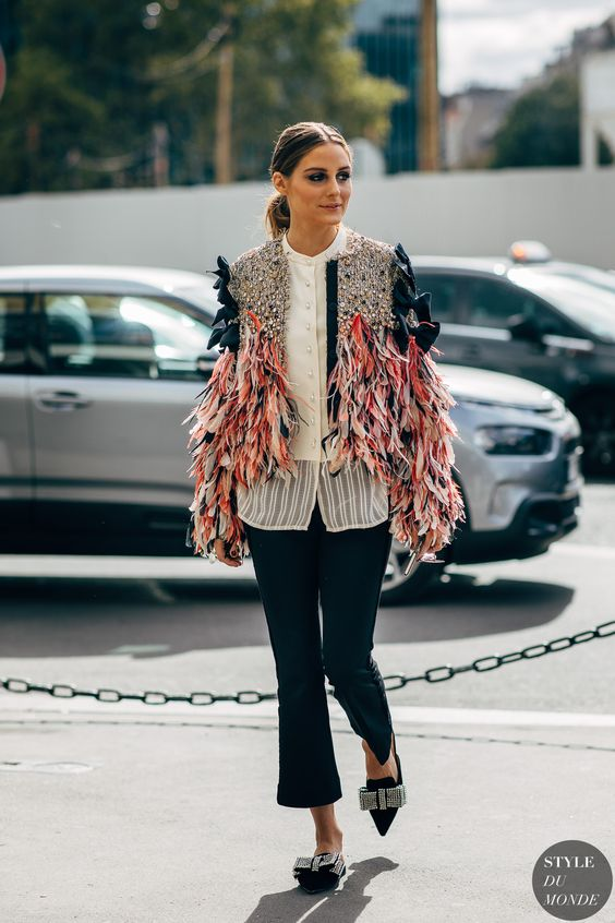 Olivia Palermo before Giambattista Valli