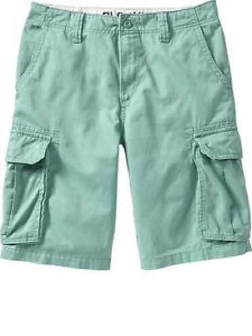 """NWT BIG MENS OLD NAVY ECHINACEA BLUE AUTHENTIC CARGO 10"""" COTTON SHORTS 48  #OldNavy #Cargo"""