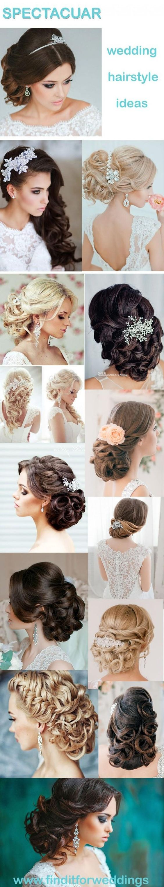 Wedding hairstyles that include updos and long flowing curls. Choose your hairstyle that suits your wedding theme and your personality