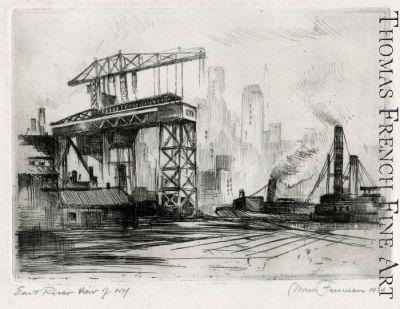 East River View of N.Y. by Mark Freeman