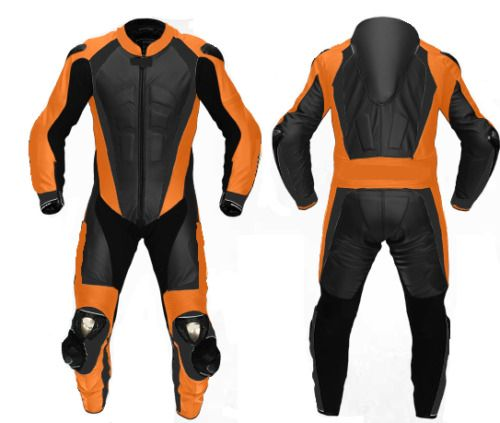 New Handmade Men S Black Orange Motorcycle Speed Cowhide Leather Racing Two Pc S Handmade Motor Motorcycle Leathers Suit Motorcycle Suits Men Motorcycle Suit