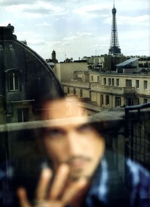 Johnny Depp in Paris.
