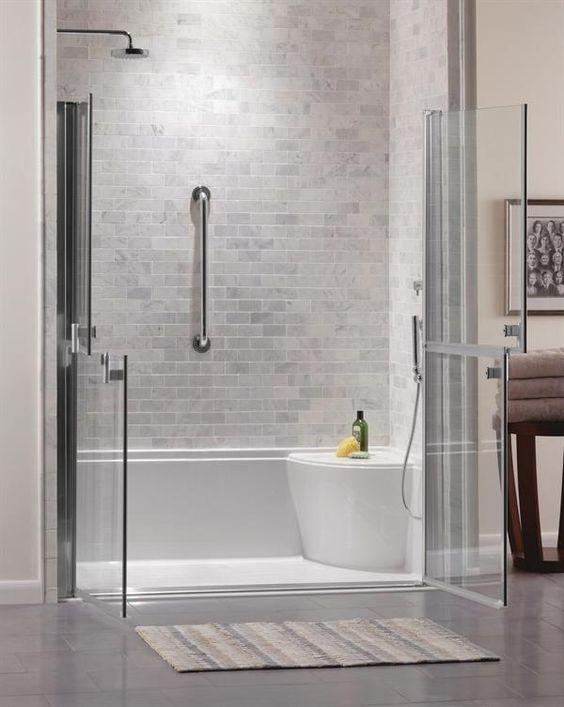 Shower Doors Shower Tiles And Grey On Pinterest