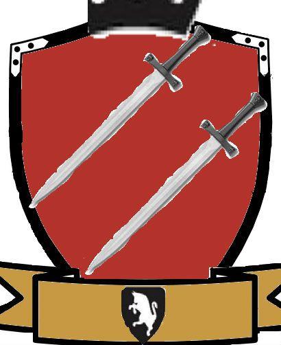 La corona significa lo valioso que es la hermandad Las espadas que nunca nos rendiremos  El caballo el animal mas valioso El color cafe es el color de los antiguos pergaminos y el rojo la sangre derramada