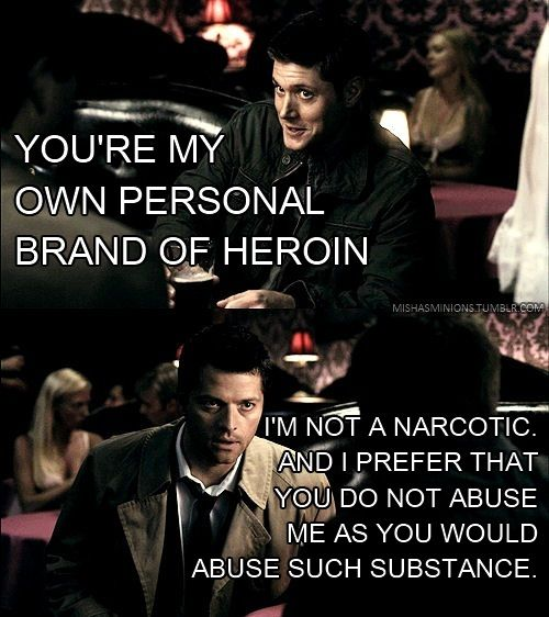 CASTIEL DOES NOT UNDERSTAND THAT PICK UP LINE OBVIOUSLY, BORROWING LINES FROM EDWARD CULLEN AND USING THEM ON CAS ARE INEFFECTIVE