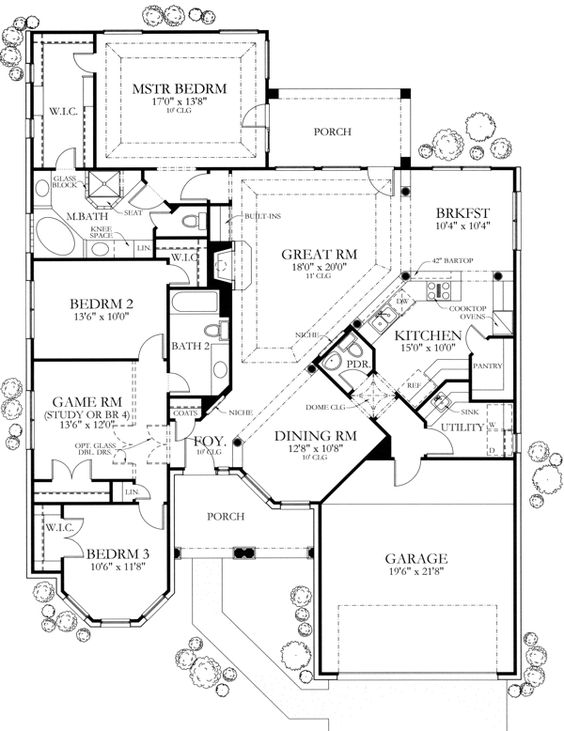 Floor Plans Powder Rooms And Game Rooms On Pinterest