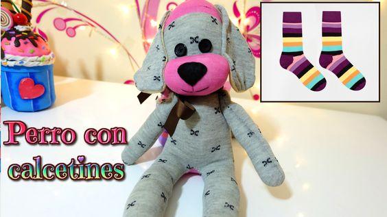 Haz un perro de peluche con calcetines diy y for Munecos con calcetines