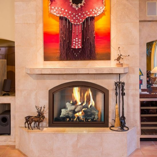 Wood Burning Full Arch Fireplace Glass Door Fireplace Doors Masonry Fireplace Fireplace