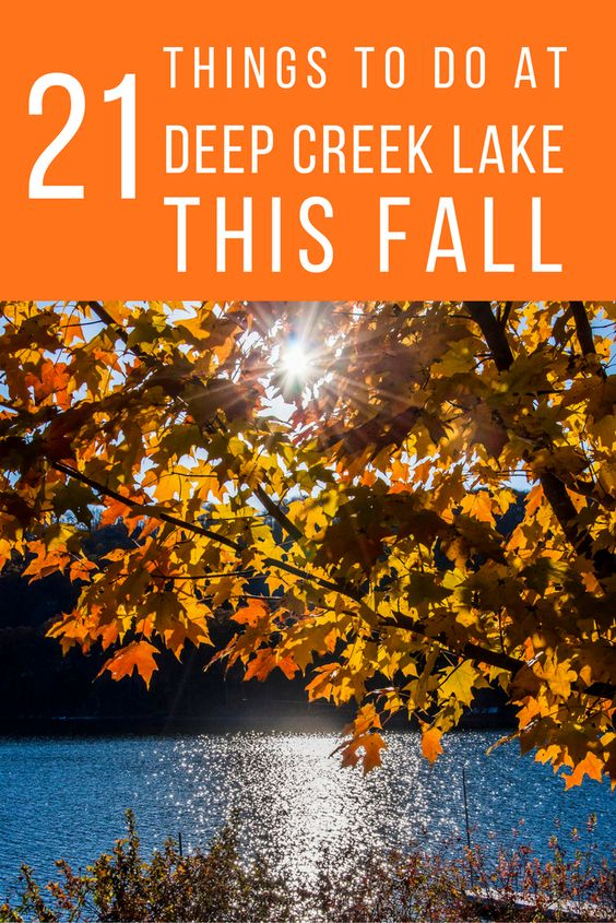 Your quick guide to fall fun at Deep Creek Lake, Maryland