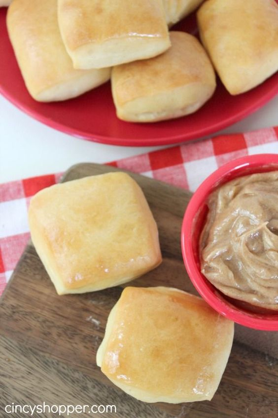 CopyCat Texas Roadhouse Rolls with Cinnamon Honey Butter Recipe