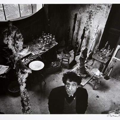 Robert Doisneau - Alberto Giacometti dans son atelie