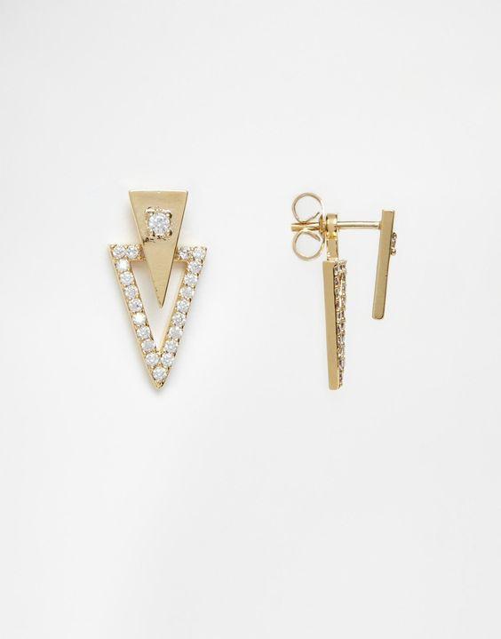 Geometric swing earrings, it's a yes from me.