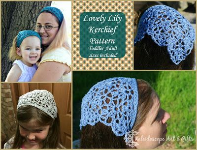 Kaleidoscope Art&Gifts: The new Lovely Lily Kerchief, FREE for a limited time!