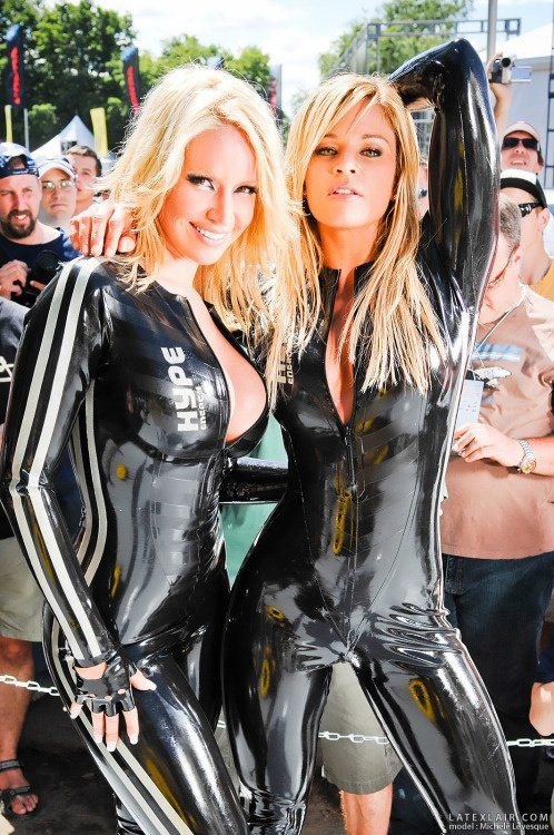 rubber latex girls