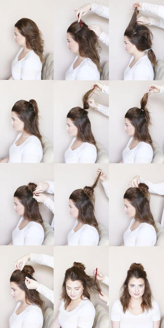 50 Simple Hairstyles For On-The-Go Moms -    #news #Makyaj #Evdekoru #Makeup #bestkadin #beautiful #actual #bestkadin #güncel #haber #kadin #Moda   Tutorial de nudo superior medio desordenado Source by mashleyl  Ankara Nakliyat